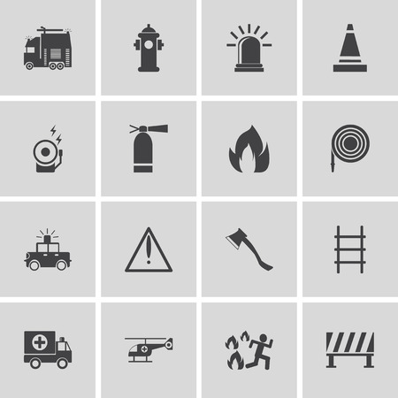 mono: Emergency icons, mono vector symbols