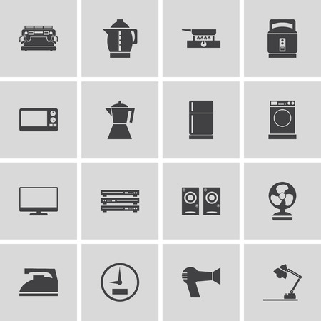 electronic devices: Electronic Devices and Home Appliances Icons Illustration