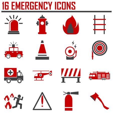 Emergency iconen, mono vectorsymbolen