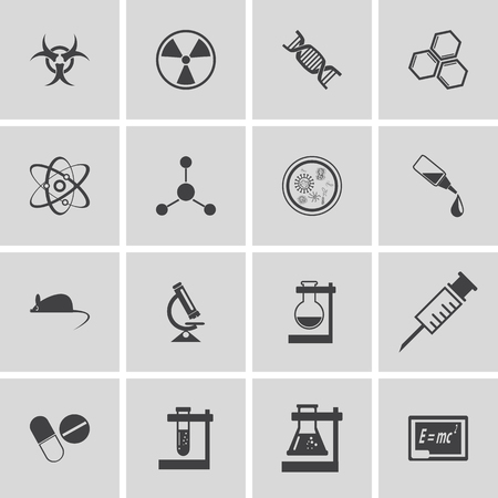 toxicology: Set of science icons