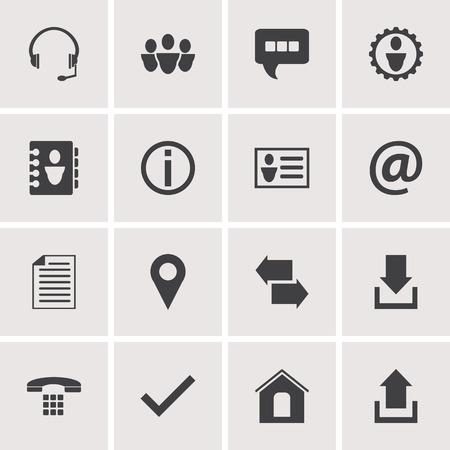Kontakt Symbole Stock Vektor-Set 3