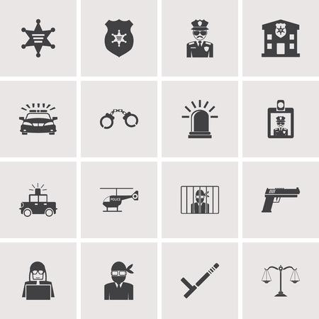 iconos Policía conjunto