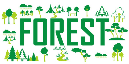 Forrest icons vector Stock Vector - 100069192
