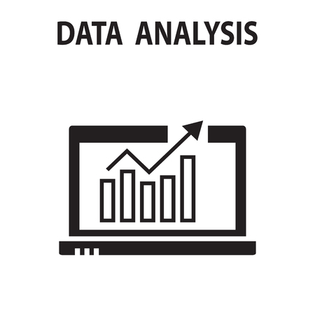 Analysis chart data growth increase line seo icon vector illustration.