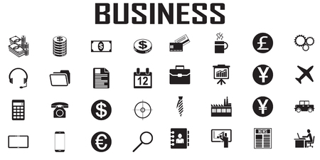 business vector icon flat design