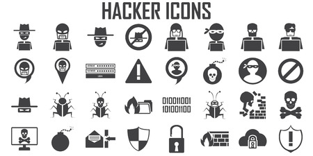 hacker icon cyber spy vector. Stok Fotoğraf - 104936638