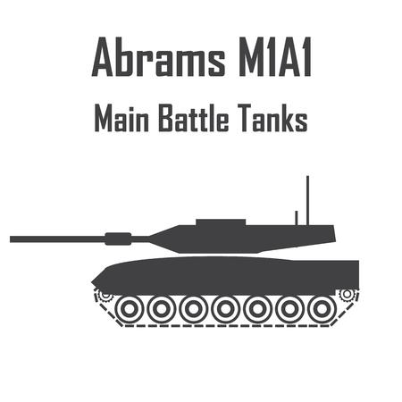 tank abrams m1a1 army usa icon vector.