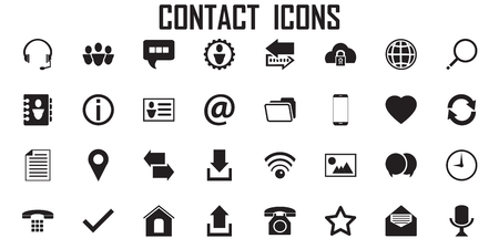 contact icon phone communication vector.