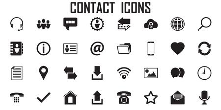 vector de comunicación de teléfono de icono de contacto. Ilustración de vector