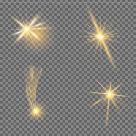 Glow light effect. Star burst with sparkles Vector Illustration