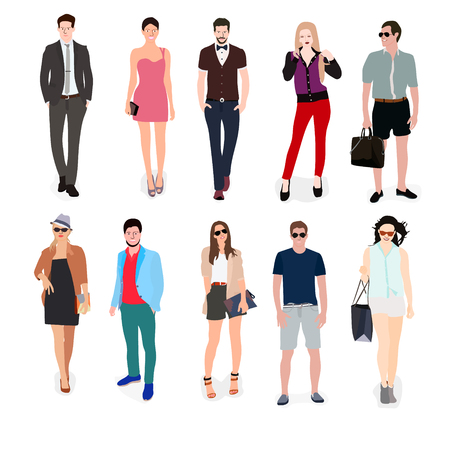 young group: style and casual people