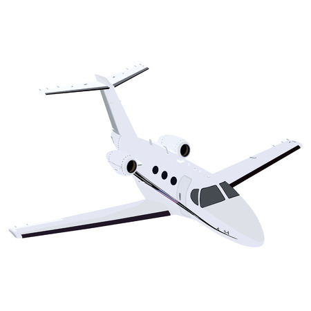 Modern airplane isolated on white background