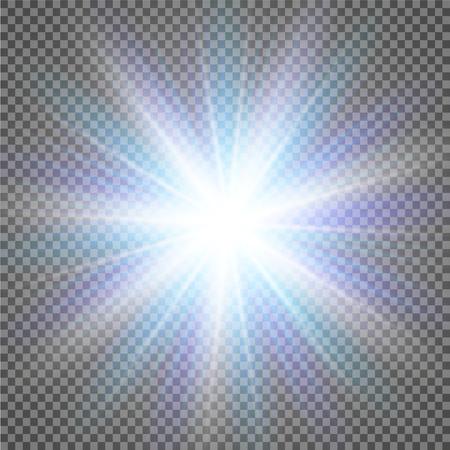 ベクトル透明日光特別なレンズ フレアの光効果。