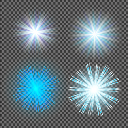 flare light: Vector transparent sunlight special lens flare light effect.