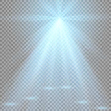 night club interior: Vector spotlight. Light effect