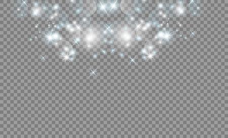 Glow light effect. Vector illustration. Christmas flash. dust.gold Illustration
