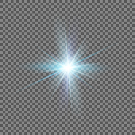 Glow light effect. Star burst with sparkles.Sun