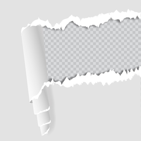 folded paper: Blank sheet of paper with page curl and shadow, design element for advertising and promotional message isolated on white background. EPS 10 vector illustration.