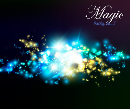 Magic Dust. Infinity. Abstract Background Stars Vector illustration Illusztráció