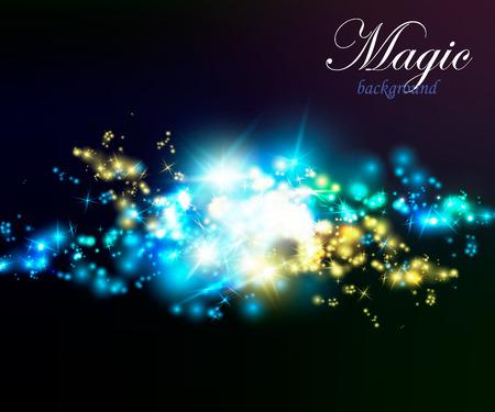 Magic Dust. Infinity. Abstract Background Stars Vector illustration Stock Illustratie