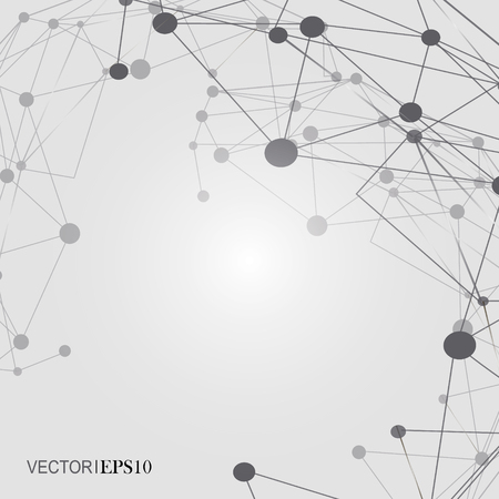 business backgound: Design Technology Network backgound. Connection concept Illustration