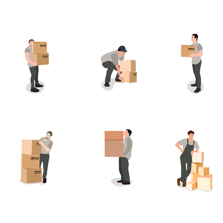 hand holding paper: Moving House, Moving Office, Box.