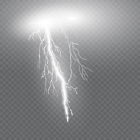 bright lightning.the electrical discharge. Illustration
