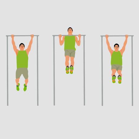 people horizontal bars bars vector illustration