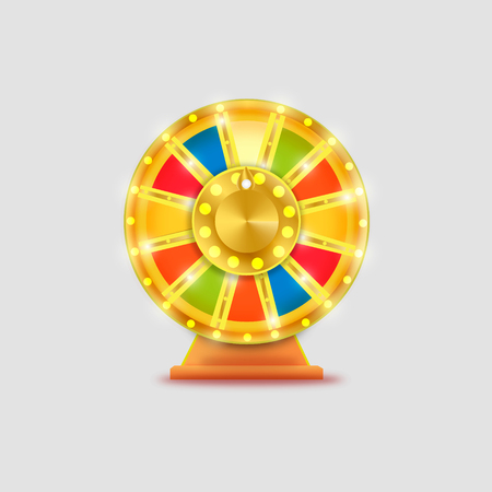 wheel of fortune: Colorful wheel of luck or fortune infographic. Vector illustration
