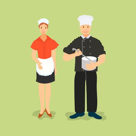 pareja comiendo: chefs with pizza, sushi, cookbook
