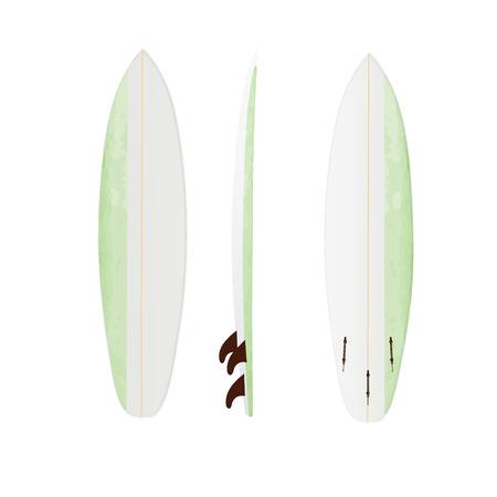 modification: White vector surfing board template: shortboard