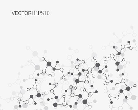 dimension: Design Technology Network backgound. Connection concept Illustration