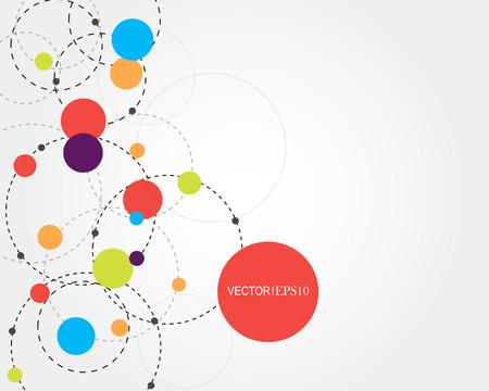 Concept de connexion. Fond de vecteur géométrique pour la présentation d'affaires ou de la science. Vecteurs