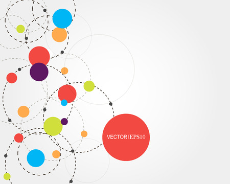 Connection concept. Geometric vector background for business or science presentation.