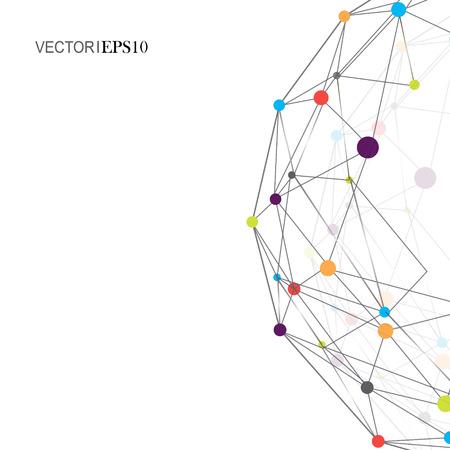 Design Technology Network backgound. Connection concept Illustration