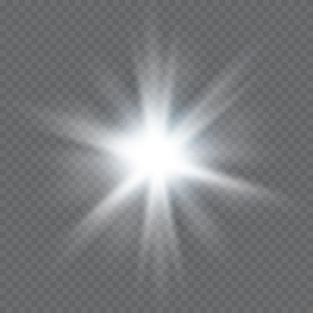 Glow light effect. Star burst with sparkles.Sun.