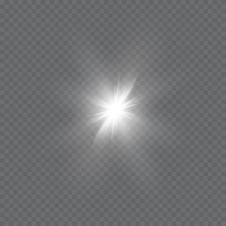 ray of light: Glow light effect. Star burst with sparkles.Sun.