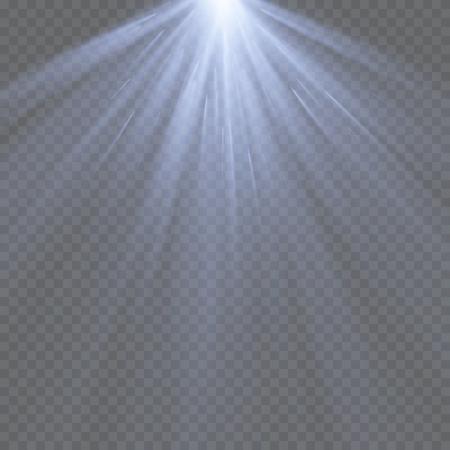 ray of light: Vector spotlight. Light effect.