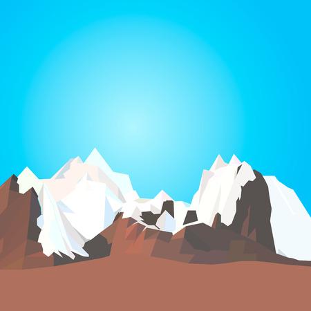 Horizontal panorama of beautiful sunrise in the mountains