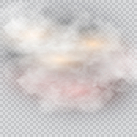 Illustration of an isolated cloud on the transparent background. Çizim