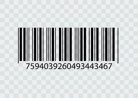 Código de barras aislado sobre fondo transparente. Icono de vector