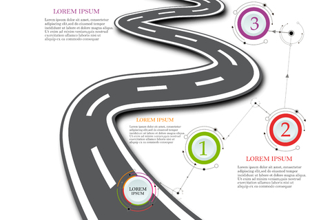 Design template: Road map business timeline, Vector Illustration Illustration