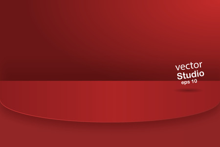 Image vectorielle, fond de salle de table de studio de couleur vert métal vif vide, affichage du produit avec espace de copie pour l'affichage de la conception de contenu. Bannière pour la publicité du produit sur le site Web
