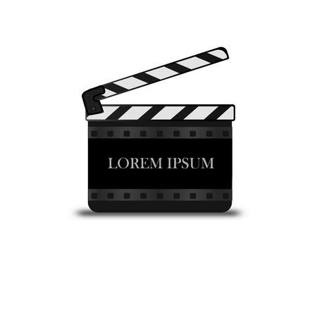 Set of vector film strip isolated on transparent background. Illustration