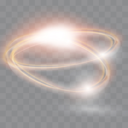 Circular flare transparent light effect. Abstract galaxy ellipse border. Luxury shining rotational glow line. Power energy glowing ring trace. Round shiny frame.