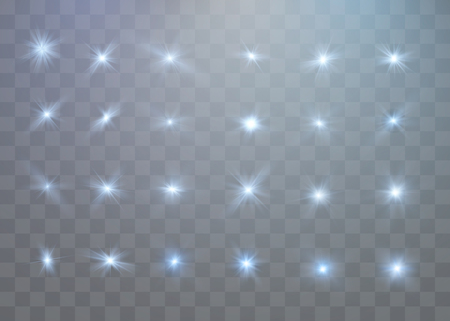 Vector transparent sunlight special lens flare light effect. Christmas abstract pattern. Sparkling magic dust particles.