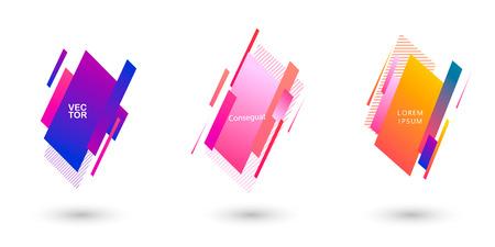 Geometric badges set. Trendy minimal design.