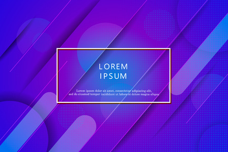 Wavy geometric background. Trendy gradient shapes composition.