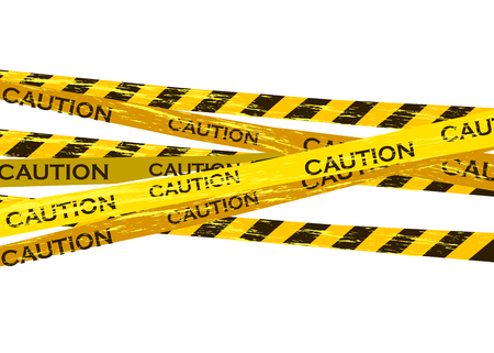 Caution lines isolated. Warning tapes. Danger signs. Vector illustration. Standard-Bild - 120090280