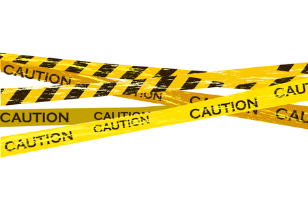 Caution lines isolated. Warning tapes. Danger signs. Vector illustration. Standard-Bild - 120090282